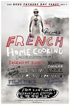 French Home Cooking #handlettering #typography #poster