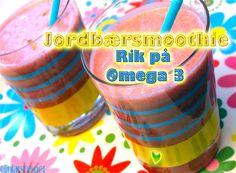 Kremet Jordbærsmoothie Omega 3, Smoothie, Cereal, Breakfast, Food, Morning Coffee, Essen, Smoothies, Meals