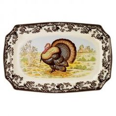 Vintage Thanksgiving Turkey Platter Dishes Pinterest