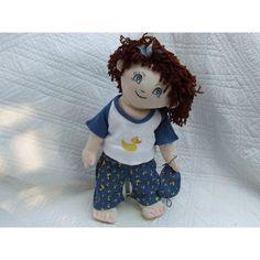 """Cuddly 18"""" Rag Doll In Duck Pyjamas Rag Dolls, Stuffed Animals, Pyjamas, 18th, Teddy Bear, Costumes, Fabric Dolls, Cloth Art Dolls, Dress Up Clothes"""