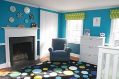 Custom Cornices In Lime And Blue Nursery Simply Salvage Green Bright