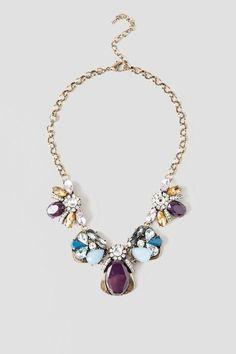 Magnolia Jeweled Statement Necklace $32.00