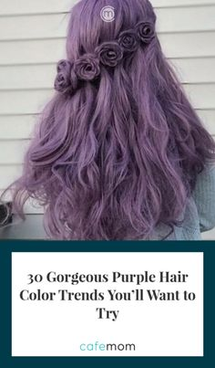 """""""Ultra Violet"""" is taking over the next year in a big way, so why not start the new year off with a bold new hairstyle? According to Pantone, the color is meant to evoke hope and to help people turn to the future with a vibrant, inquisitive, and creative eye. Via: dollhousedubai/Instagram"""