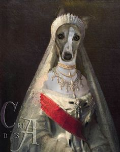 Anthropomorphic dog art