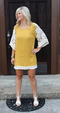 Miss Daisy Dress, Mustard – Sisterly Chic Boutique