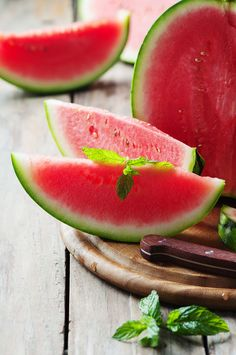 Fresh sweet watermelon on the wooden table by Oxana Denezhkina on 500px