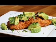 Salmon and avocado salsa. Great detox meal!