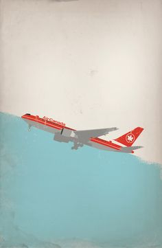 Air Canada Posters/Illustration  PROJECT BY:  Jordan Puopolo. @designerwallace
