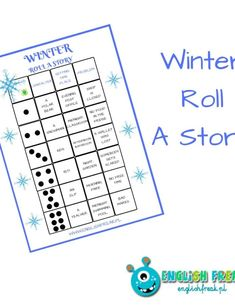 Winter Roll A Story - stwórzmy opowieść! Roll A Story, Post Office Closed, Bingo, Classroom, Winter, Squad