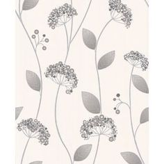 Premier Claire Wallpaper - Grey from Homebase.co.uk