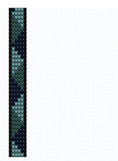 Triángulos teal Beading loom pattern Patrón telar