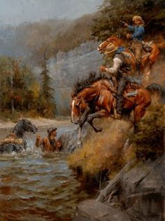 THE HUNTED COWBOY WESTERN ART BY ANDY THOMAS