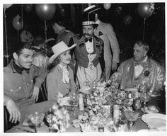 Clark Gable, Carole Lombard and William Randolph Hearst at San Simeon