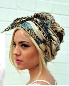 Silk scarf hair #2.