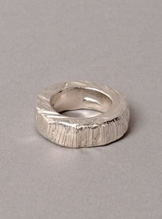 Young British Designers: Sterling Silver 'Grooves' Ring by Imogen Belfield - The perfect chunky ring; bold, simple and with a light texture that injects just enough edge.