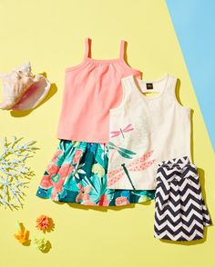 Shop mix-and-match Girls tees, tanks, skirts, capris and shorts for an easy outfit!