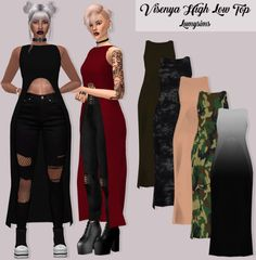 Sims 4 CC's - The Best: VISENYA HIGH LOW TOP by Lumy Sims