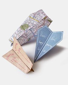 paper airplane cards