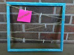 Blue and White Memo Board / Picture Board / Message by ATouchOLove