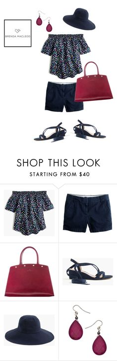 """""""starring - navy"""" by brendamacleod ❤ liked on Polyvore featuring J.Crew and Danielle Stevens"""