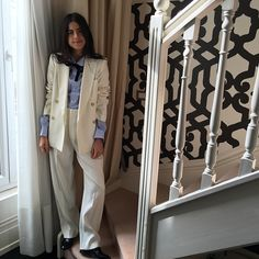 This is what I ended up wearing, by the way -- an Isabel Marant suit (here's an alternative jacket and pant combo) and Comme des Garçons shirt.