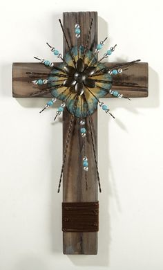 Beaded Barbed Wire Wall Cross