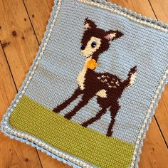 """Hello Deer Baby Blanket pattern by Little Doolally"" - #crochet by @holly_pips"