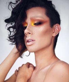James Charles dramatic sunset eye look