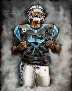 Carolina Panthers - Cam Newton - Art Print - Superman - Wall Art - Man Cave Art - Panthers Decor - Dorm Decor - Panthers Gifts - Super Cam
