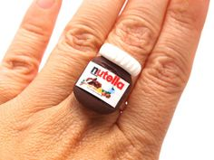 Wee Nutella ring.   19 Heartbreakingly Adorable Food Miniatures You Can Buy