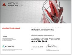 Autodesk Certified Professional in Autocad 2014