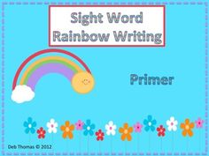 rainbow writing spelling words template - 1000 images about rainbow writing on pinterest rainbow