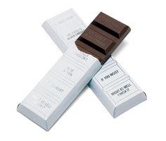 Super idée packaging pou une barette de chocolat
