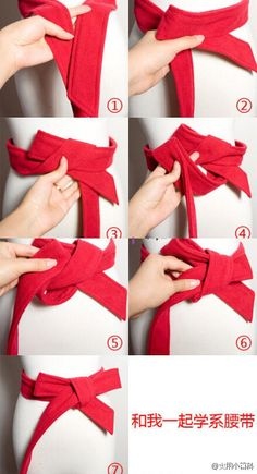 How To Wear Belts - How To Wear Belts How to tie a bow on a coat. - Discover how to make the belt the ideal complement to enhance your figure. - Discover how to make the belt the ideal complement to enhance your figure. Scarf Belt, Bow Belt, Ribbon Belt, Tie A Belt, Belt Knot, How To Tie Ribbon, How To Make Bows, Diy Ribbon, Fashion Belts