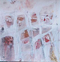 """Esencia.  Lo que permanece después de destilar lo innecesario, lo superficial, lo inútil.  Proyecto """"En Esencia"""" Pigmento, resina /papel 15×15 Proceso aditivo en un único sentido; negro, rojo, ocre, blanco."""