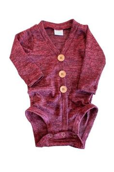 Newborn boy cardigan onesie, Burgundy Sweater Cardigan - 6m only https://presentbaby.com