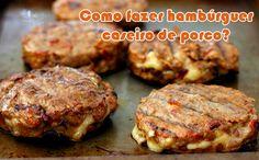 Como fazer hambúrguer caseiro de porco com Barbecue #receitas #hambúrgueres #hamburguerias #comofazer #dicas