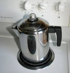 Making coffee with a percolator