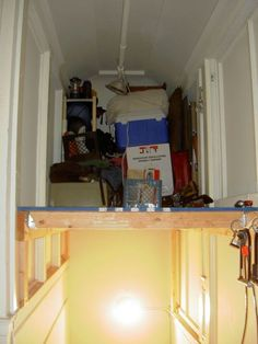 Turn an Empty Stairwell into a Storage Loft