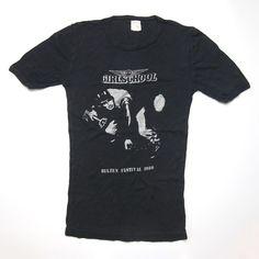 472f5d42 Vtg Rare 80s Girlschool Bilzen Festival 1980 Tour T Shirt Glam Rock Led  Zeppelin