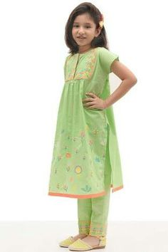 Colors & Crafts Boutique™ offers unique apparel and jewelry to women who value versatility, style and comfort. For inquiries: Call/Text/Whatsapp Pakistani Kids Dresses, Pakistani Dress Design, Little Girl Dresses, Girls Dresses, Baby Dresses, Dress Girl, Kids Salwar Kameez, Shalwar Kameez, Salwar Suits