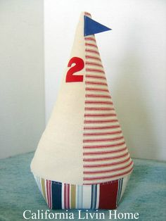 Fermaporta in barca a vela / Nautica / Home Decor / rosso /