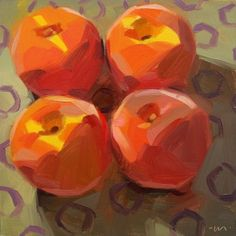 Square Dancing Peaches, painting by artist Carol Marine