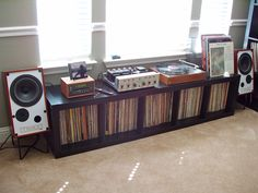 Cool vinyl record storage ideas – a. byron balogh – … Cool vinyl record storage ideas – a. Turn Table Vinyl, Storage, Home, Home Studio, Vinyl Storage, Room Diy, New Homes, Vinyl, Audio Room