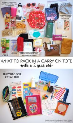 Packing Tips: My Carry On With a Toddler | Putting Me Together | Bloglovin'