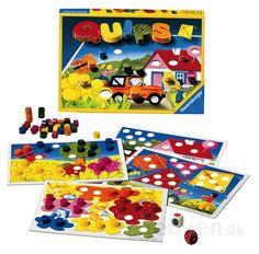 Ravensburger Quips spillet er et sjovt terningespil for de mindste, hvor de lærer at skelne i mellem de 6 farver, samtidig med at de får en fornemme...