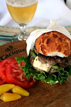 Lamb Burger Stuffed with Jalapeños and Cacique Panela Cheese
