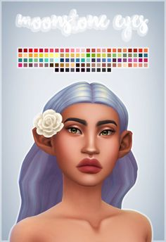 Moonstone EyesI was really in the mood to make some eyes and I, of course, got carried away with the swatches again. I've included a face paint option for those who don't want the non-defaults cluttering up the eye color section since there's so many...