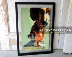 Low Five Dachshund Poster Art  Print by kalyxcraftopia on Etsy, $18,00