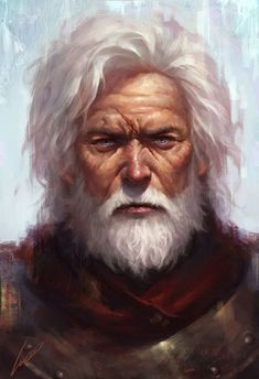 Character design portrait - older man with white hair and beard Fantasy Male, Fantasy Rpg, Medieval Fantasy, Fantasy World, Character Creation, Character Concept, Character Art, Concept Art, Fantasy Portraits